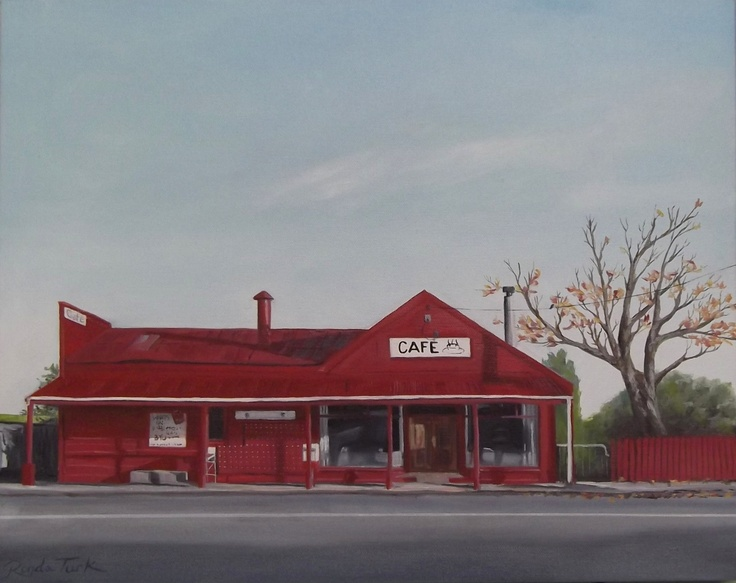 Te Horo Cafe, oil on canvas.