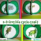 Create a 3-D Life Cycle of a Frog craft when you teach about the life cycle of frogs with this So Sweet Craft.