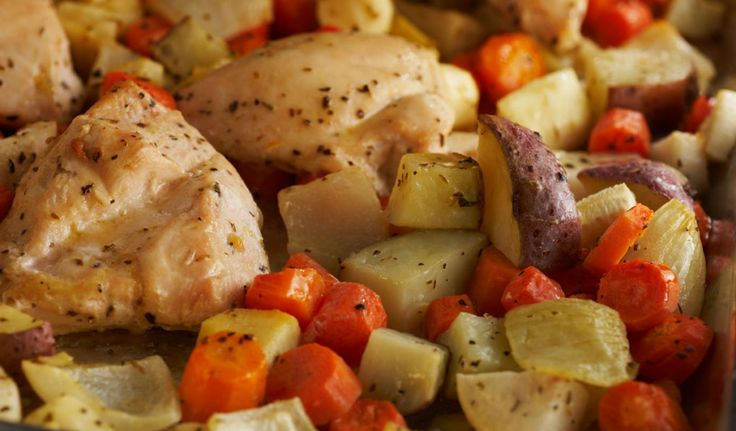 Herb Roasted Chicken with Vegetables- Use your favorite root veggies ...