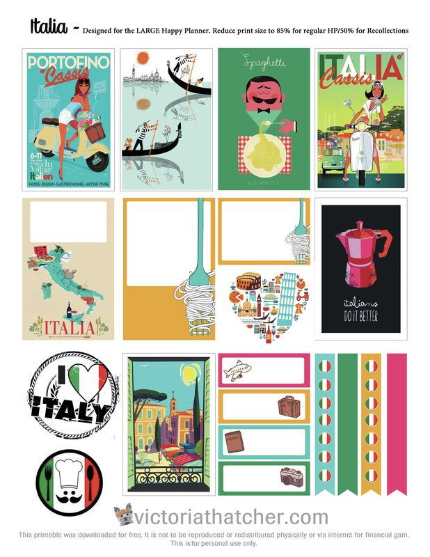 FREE Italia Planner Stickers by Victoria Thatcher