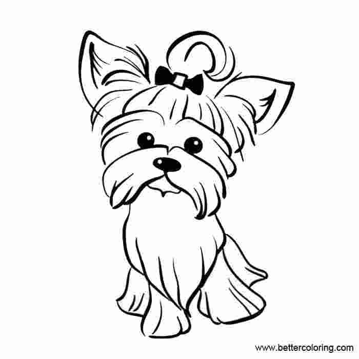Free Yorkie Puppy Coloring Pages In 2020 Puppy Coloring Pages Dog Coloring Page Yorkie Puppy