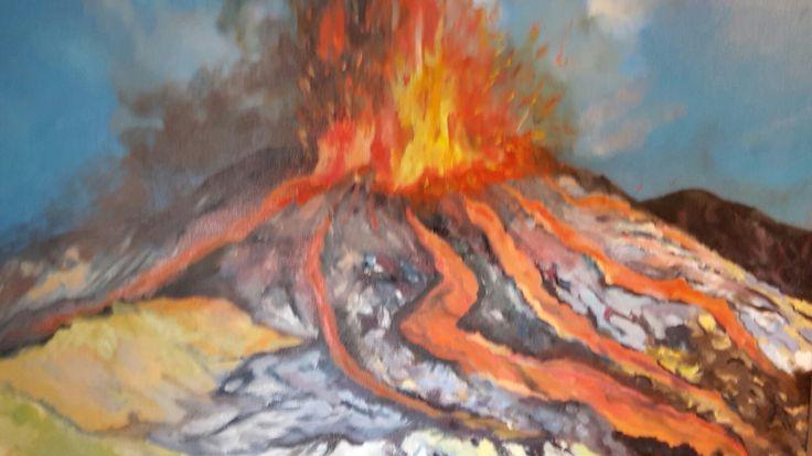 """Vulcano Etna"" - olio su tela 50 x 70 - anno 2017"