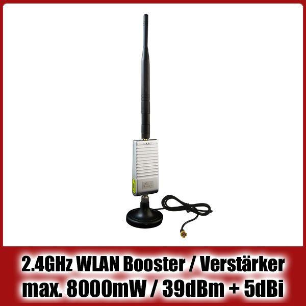 2.4 GHz WiFi Booster / WLAN Verstärker / Signalverstärker | max. 8000mW / 39dBm