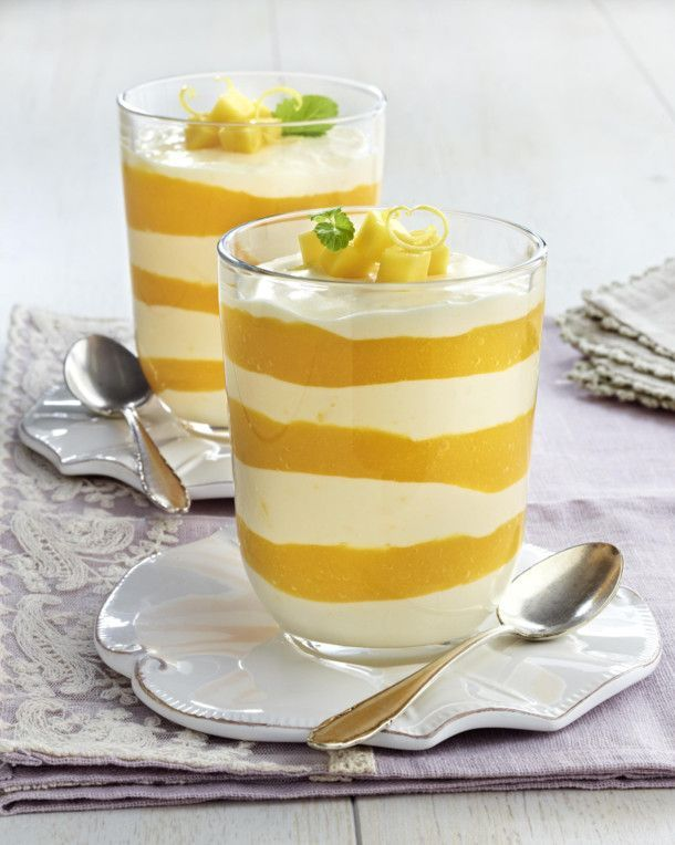 Unser beliebtes Rezept für Zitronencreme mit  Mangopüree und mehr als 55.000 weitere kostenlose Rezepte auf LECKER.de.