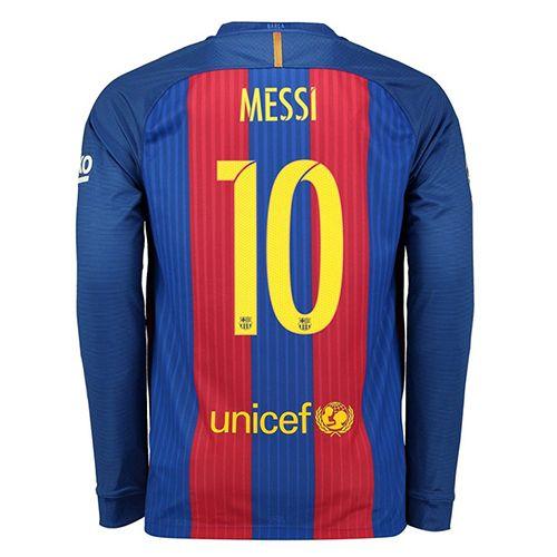 FCバルセロナ 16-17 ユニフォーム ホーム#10 メッシ 長袖 レプリカ - サッカーユニフォーム専門店|NBA・MLB・NFL|スポーツ用品通販