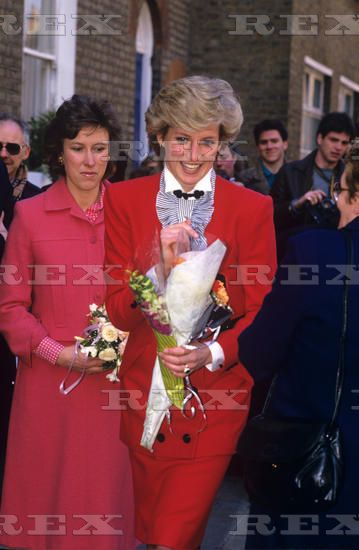 March 12 1987 Princess Diana at Pre School Playgroup Association HQ, King's Cross Road,
