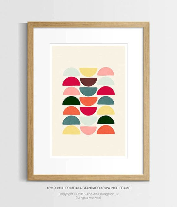 Coloured Stacks Print – This modern mid century inspired geometric design will add fun and warmth to your home interior, with its playful shapes and retro styling.  *Specifications*  Printed onto heavy, premium quality 251 gsm Epson Semi-gloss paper, and paired with Epsons gallery grade Ultrachrome pigment inks results in an extremely high quality, lifetime lasting finish when framed. These prints look great in standard off the shelf sized picture frames (see thumbnail pictures) with an…
