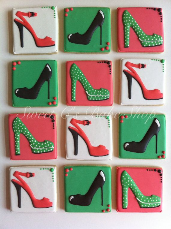 High Heel Cookies by SweetCBakeShop on Etsy, $42.00....Looks just like the pic and adorable packaging!!