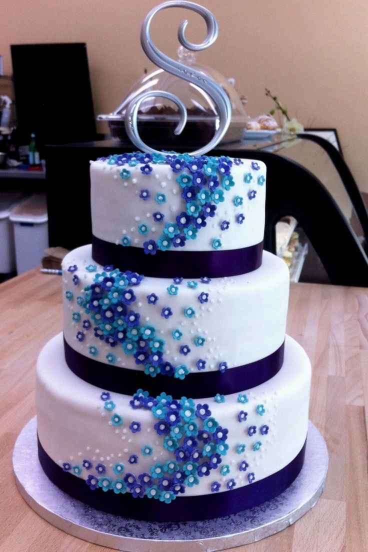 wedding cakes turquoise and purple best 25 turquoise wedding cakes ideas on 25793