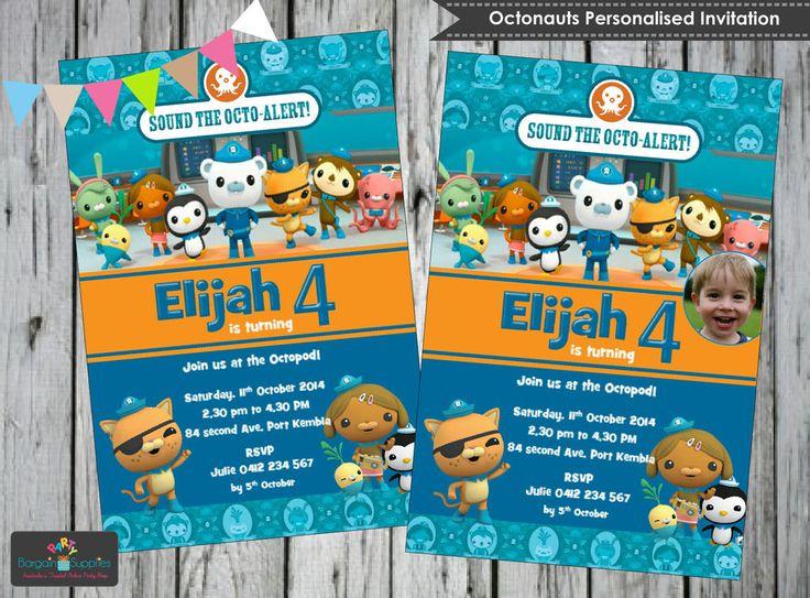 OCTONAUTS PARTY SUPPLIES PERSONALISED INVITATIONS INVITES CARDS MANY DESIGNS AU #custominvitations #birthdaychild