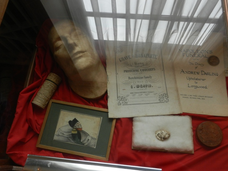FUNERAL ITEMS IN NAPOLEONS HOME ON ST. HELENA ISLAND