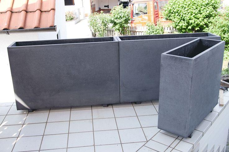 Pflanzkübel Beton Blumenkübel | Garten | Pinterest