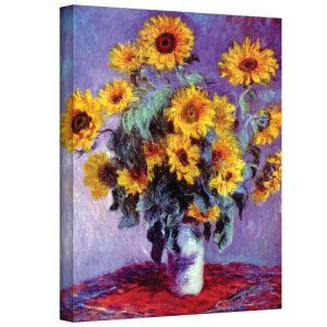 ArtWall-Sunflowers-by-Claude-Monet-Gallery-Wrapped-Canvas-24-by-32-Inch-0