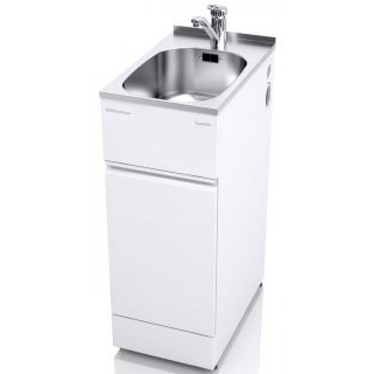 The ST6001SLIM is a slim tub design which includes a single-handed mixer tap and a large single drawer with a chrome wire basket.  It has a clean flat surface area at the rear of the bowl, and has a lip designed to be tiled over.  Not only will your Supertub look like an integrated part of your laundry, but more importantly, water splashes will naturally drain into the bowl.  It also makes it simple to clean by just wiping down with a damp cloth.