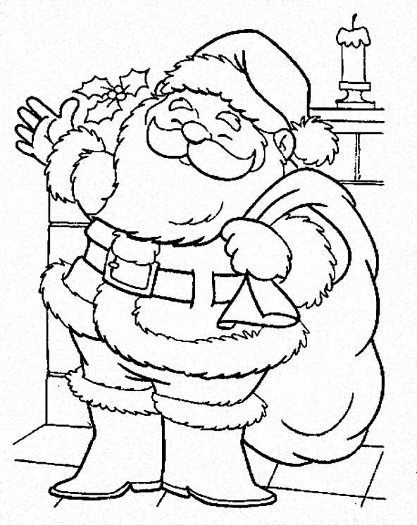 Christmas Santa Is Coming To Town Coloring Page Coloring For Kids