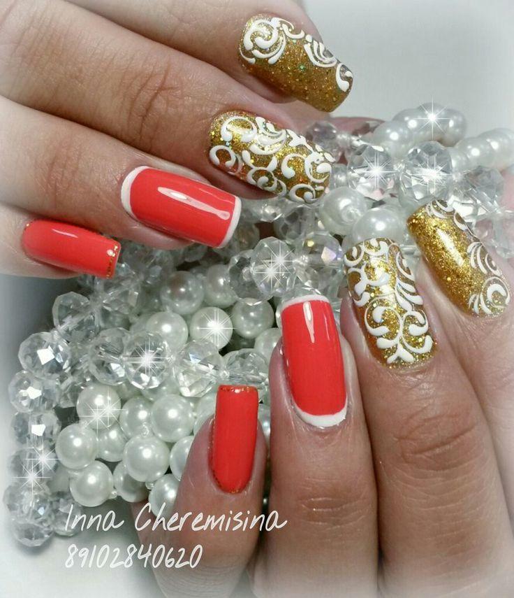 #маникюр #гель_лак_на_натуральных_ногтях #аппаратный_маникюр #дизайн_ногтей #вензеля