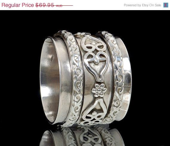 ON SALE 925 Sterling Silver Wire Work Meditation by fabriika, $55.96