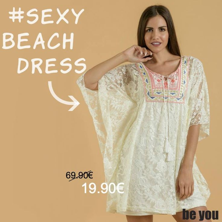 Bring on the sun☀️ Καφτάνι Mini > http://goo.gl/oBBeUF  #kaftan #lace #outfit #beyoucomgr #sales #mini