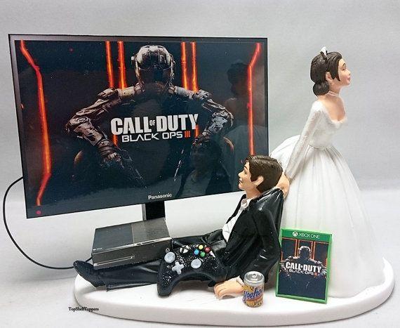 Bacalao Negro Ops III versión 2 pastel de bodas Topper Gamer