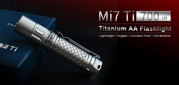 KLARUS Mi7 Ti LED Flashlight CREE XP-L HI V3 LED 700 Lumens