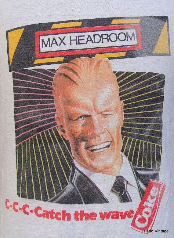 Vintage 80's MAX HEADROOM Coke t shirt