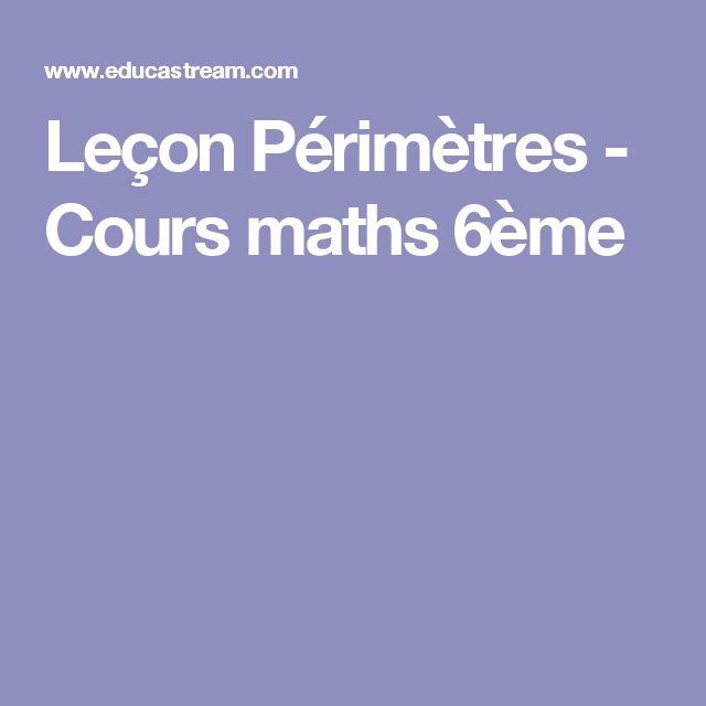 Leçon Périmètres - Cours maths 6ème