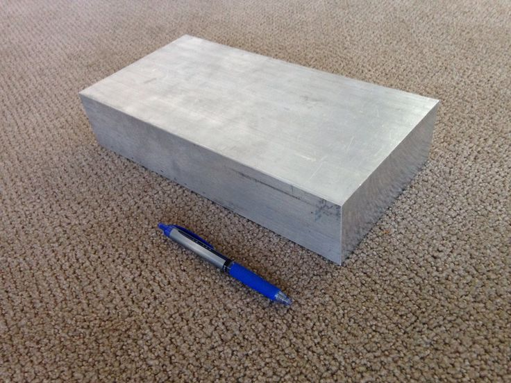 The 6061 aluminum alloy block that I will CNC mill to form the amplifier case. It weighs 17lbs right now but it will weigh less than 6lbs when finished. The rest will be recycled.
