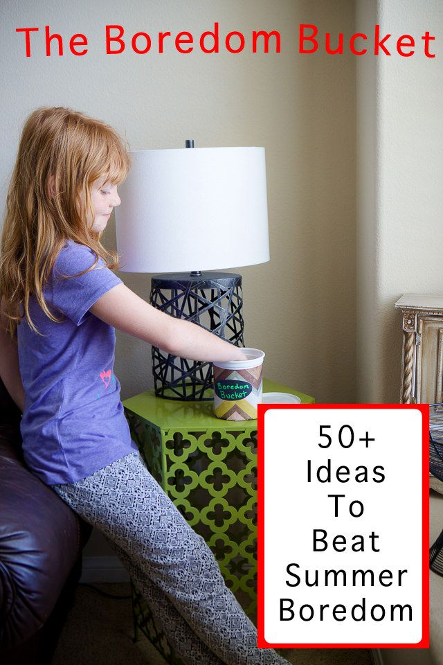 Boredom Bucket: 50+ Fun Ideas for Kids to do when they say they are bored #sponsored  #mhy