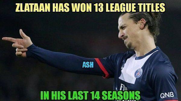 Wielkie osiągnięcie Zlatana Ibrahimovicia • Szwed zdobył 13 ligowych tytułów w ciągu ostatnich 14 sezonów • Wejdź i zobacz więcej >> #zlatan #ibrahimovic #football #soccer #sports #pilkanozna