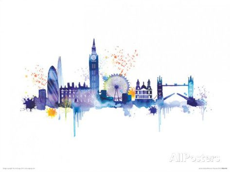 London Skyline Posters by Summer Thornton at AllPosters.com