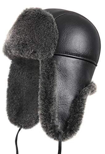 Great for Zavelio Shearling Sheepskin Leather Aviator Russian Ushanka  Trapper Winter Fur Hat.   49.99 - 59.99  nanaclothing from top store 11b6385a3b0