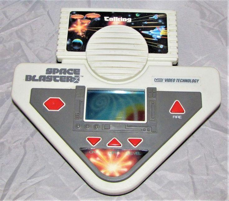 Vintage Talking Hand Held Video Game Space Blasters 1988 Vtech