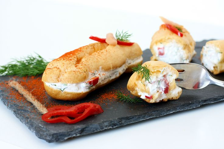 Salty eclairs. Awesome idea for a starter