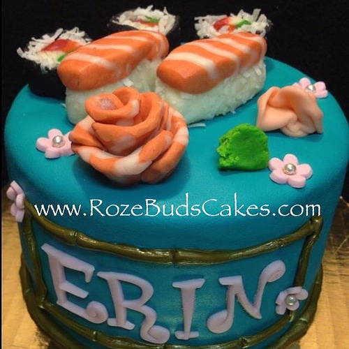 Salmon Birthday Cake