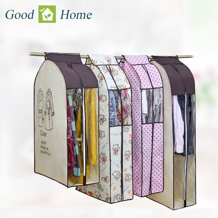 Большой Ткань Емкость Висячие пиджака Пылезащитный Protector Шкаф для хранения сумка