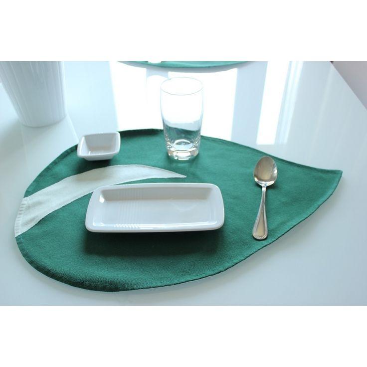 #Tovagliette design foglia verde Di design esclusivo, si trovano solo da #Naturessenza