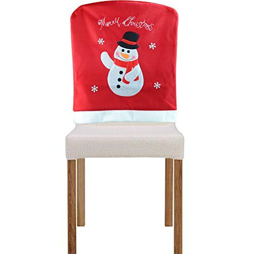 Yontree Christmas Home Decor Chair Cover Snowman Learn More By Visiting The