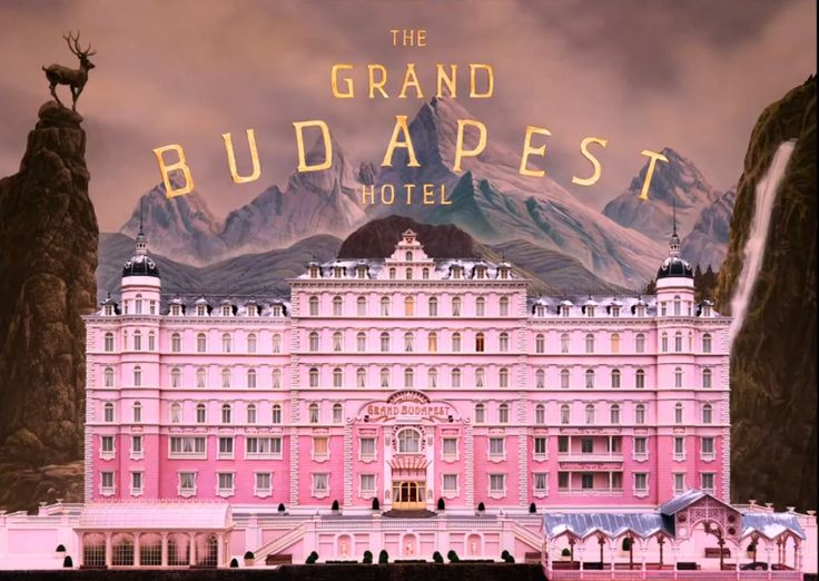 Grand Budapest Hotel by Wes Anderson Title Card