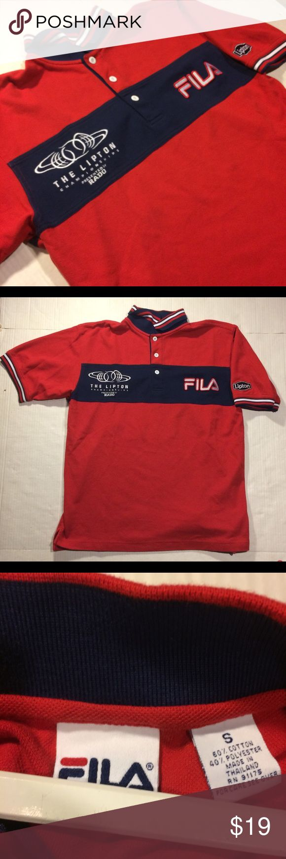 FILA Polo collar men's size small Flawless polo collar shirt Fila Shirts Polos