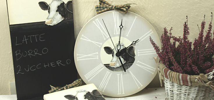 Orologio e lavagna stile country Wall Clock and Black board (Country style)