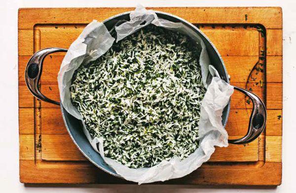 Vegatopia - 3x Persiana: Perzische rijst, gebakken eieren en salade met radijs