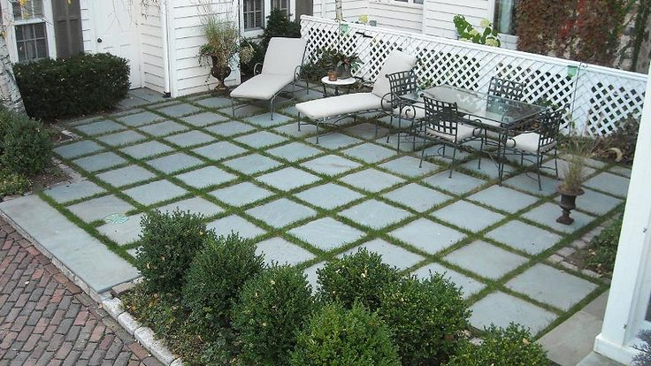 The Secret Garden Bluestone Patio With Grass Joints