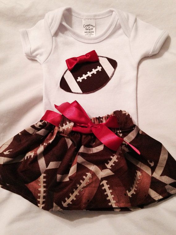 Newborn infant baby football outfit football by CalliesCraftCorner