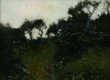 The Orchard (A Study into the Sun), c.1910 by Lamorna Birch - Artists - Penlee House Gallery and Museum Penzance Cornwall UK