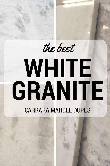 The best white granites that look like Carrara Marble