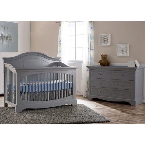 grey furniture nursery. grey baby nursery set pali ragusa in stone finish furniture