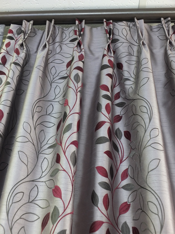 Dutch pleat heading style for curtains.