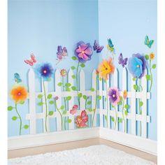 Garden Fairy Wall Stickers | Kids' Room Decor