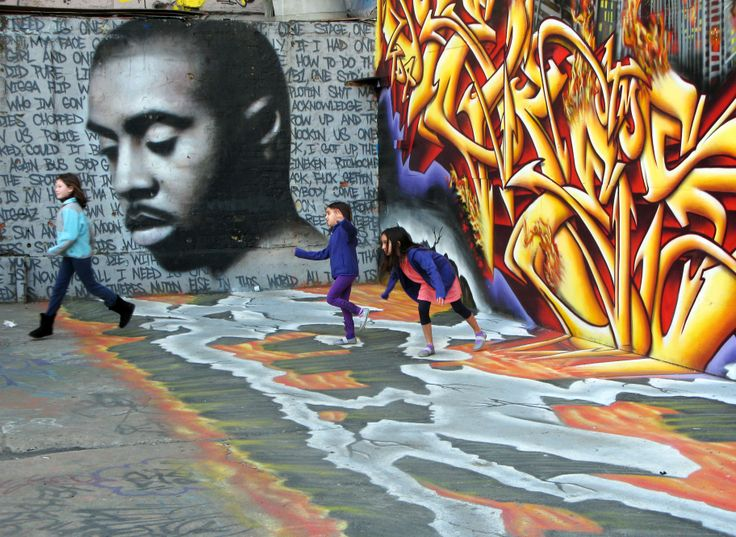 nas mural w lyrics to one mic tag it pinterest murals