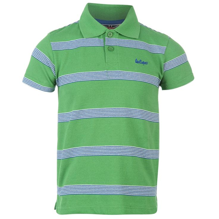 Lee Cooper | Lee Cooper Striped Polo Shirt Junior | Kids Polo Shirts